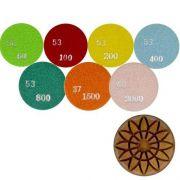 Disco de Polimento Rígido Para Concreto Flower Concrete 80mm - Colar