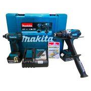 Parafusadeira Furadeira de Impacto á Bateria 18V 3.0Ah DLX2145X2 - Makita