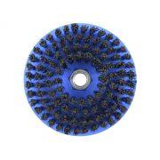 Escova Rotativa Circular Macia Azul 120mm - Colar