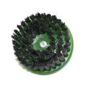 Escova Rotativa Circular Super Macia Verde - 100mm Com eixo - Colar