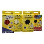 Kit 05 Caixas de Lápis de Cera Estaca Acrilex