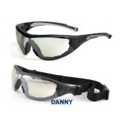 Óculos de Proteção 2 em 1 Com Tratamento Antiembaçante, Antirrisco e Proteção UV - Danny