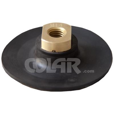 Suporte De Lixadeira 4 Polegadas com Velcro e Rosca M14  - SuperFlex Fino  - COLAR
