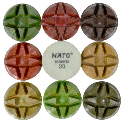 Disco de Polimento Rígido Para Concreto Nato 85mm - Colar  - COLAR