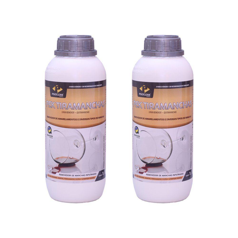 2 Unidades Removedor de manchas organicas  Tira manchas Pisoclean 1 litro   - COLAR