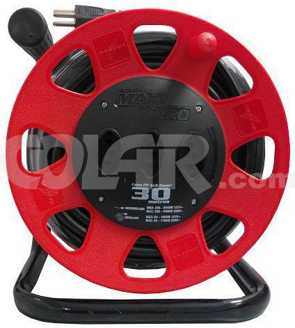 Extensão Maxi 30M Circular Vermelho Cabo 3X2,50  - COLAR