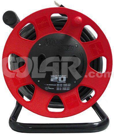 Extensão Maxi 20M Circular Vermelho Cabo 3X2,50  - COLAR