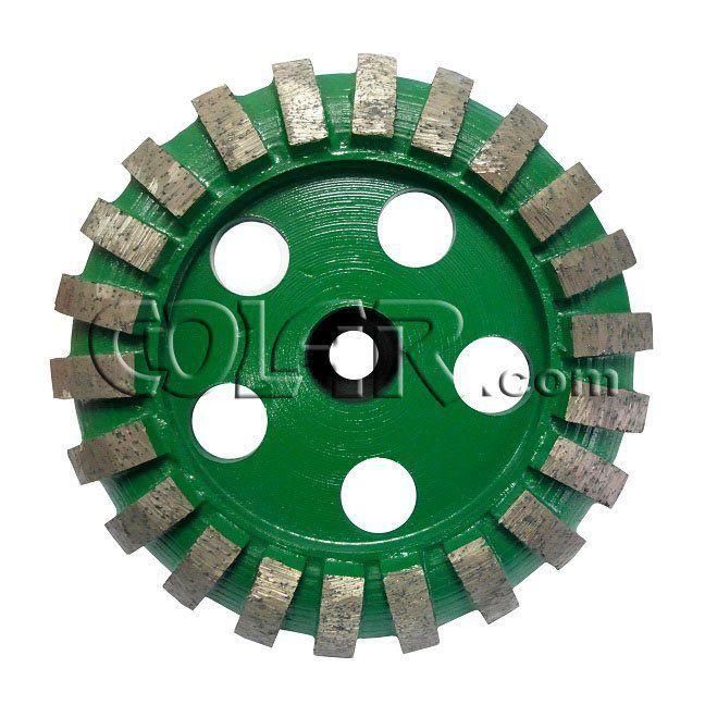 Rebolo Diamantado 125mm Rosca 14m Grão: 036 Convexo Dmgls  - COLAR