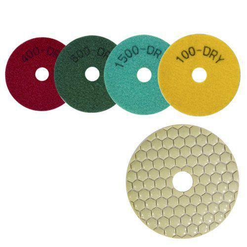Disco de Polimento Flexível Para Mármores, Granitos e Pedras Ornamentais Dry Flex 100mm - CH  - COLAR