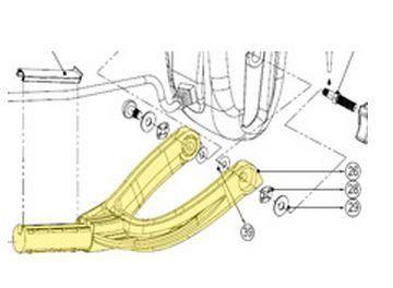 Haste de Junção Motor/Cabo - MS3005  - COLAR