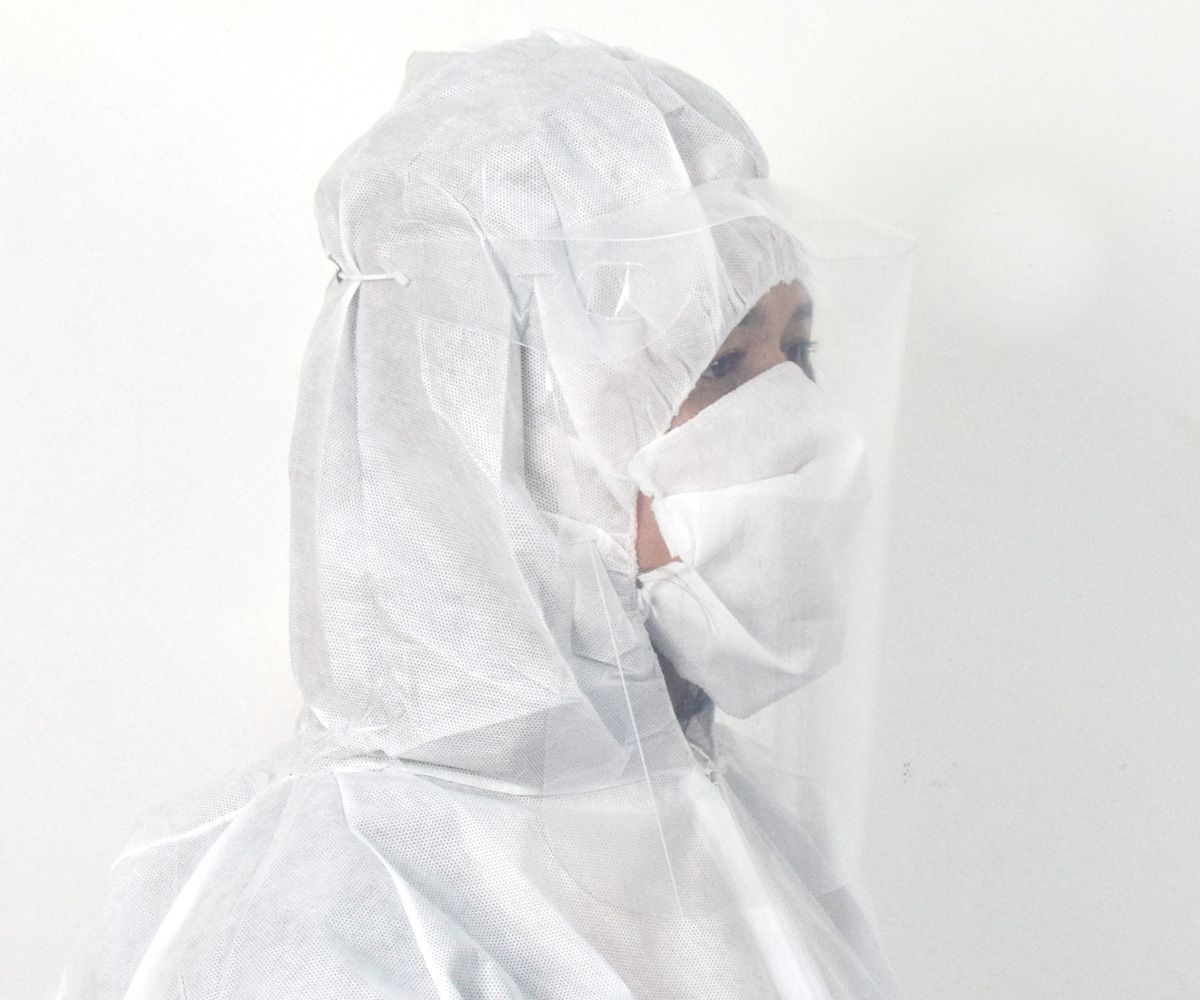 50 Unidades Máscara Facial Protetora - Colar  - COLAR