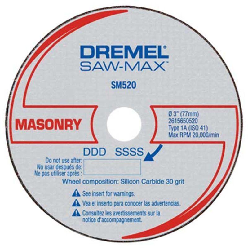 Disco de Corte Para Alvenaria DSM520 3 Unidades - Dremel  - COLAR