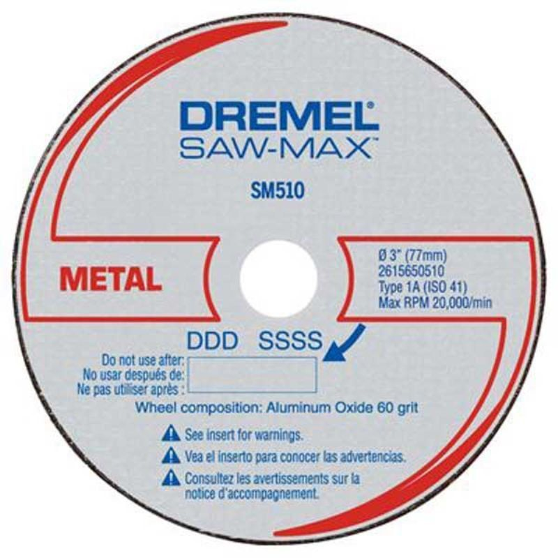 Disco de Corte Para Metal DSM510 3 Unidades - Dremel  - COLAR
