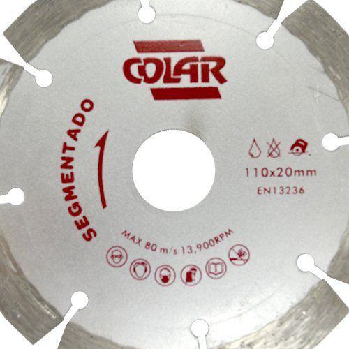 Disco de Serra Mármore Segmentado Premium 110mm - Colar  - COLAR