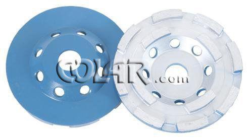 Rebolo Diamantado Azul Duplo Concreto Gr.036 - DM  - COLAR