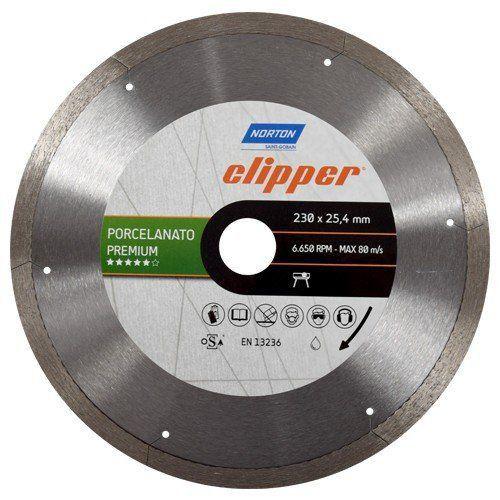 Serra Clipper Continua Para Maquina TR231 Porcelanato Premium 230 x 25,4mm - Norton  - COLAR