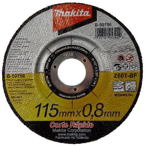 Disco Abrasivo Corte Central 115 mm B5075625 - Makita  - COLAR