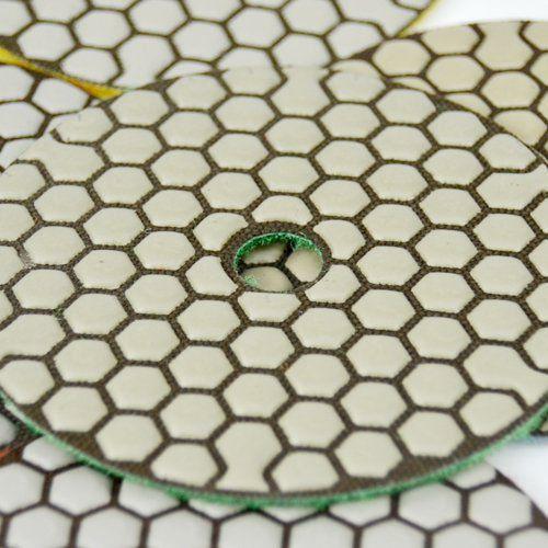 Disco de Polimento Flexível 5 Estágios Dry Flex Para Mármores e Granitos 100mm - Colar  - COLAR