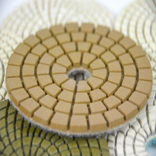 Disco de Polimento Flexível Para Mármores e Granitos Saint BUFF 100mm - Colar