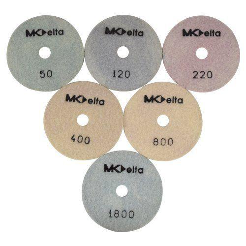 Disco de Polimento Flexível Para Mármores Mk Delta 100mm - Colar  - COLAR