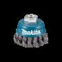 Escova Fios de Aço Trançado 2 Tipo Copo para Esmerilhadeira - Makita - Caixa