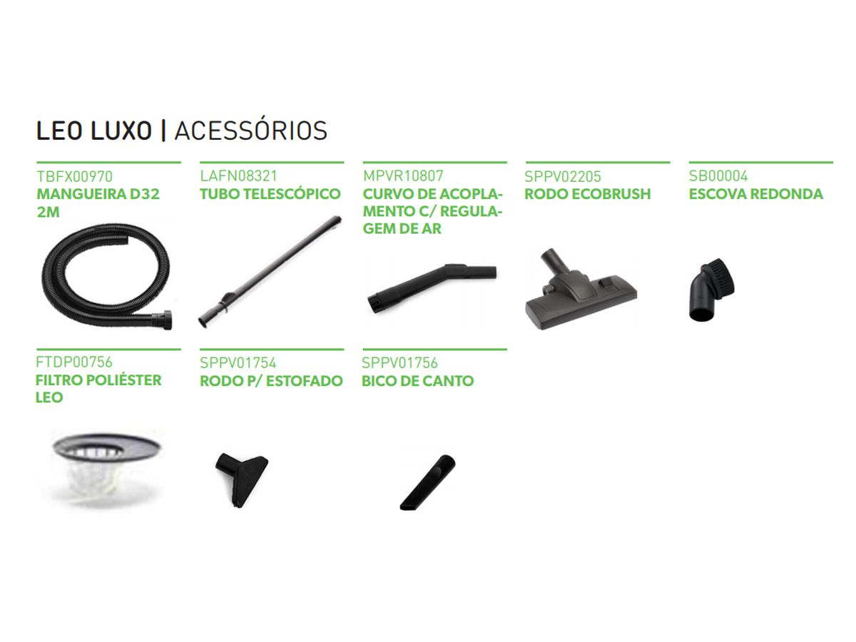 Aspirador Leo Luxo - Aspirador de Pó Profissional da IPC  - COLAR