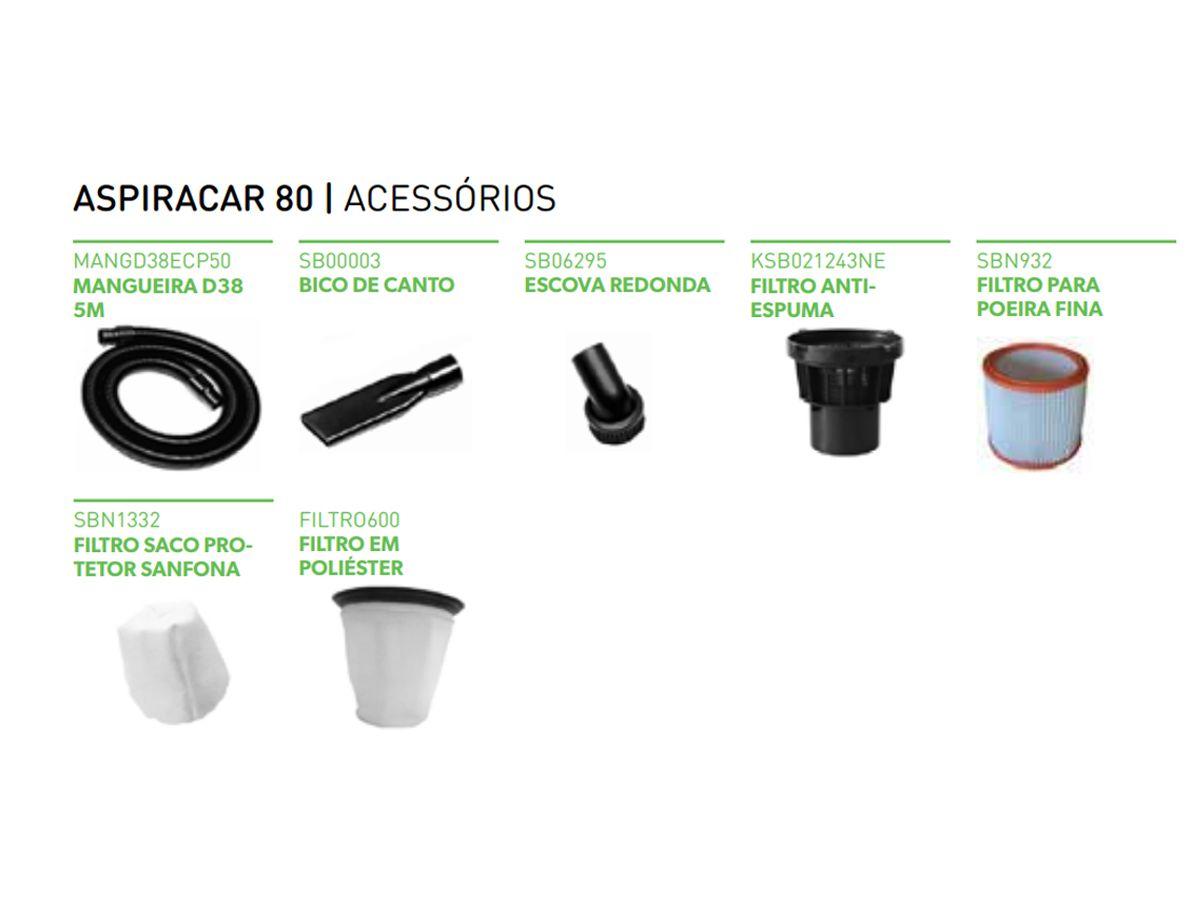 Aspirador Para Veículos Aspiracar 80A - IPCBrasil  - COLAR