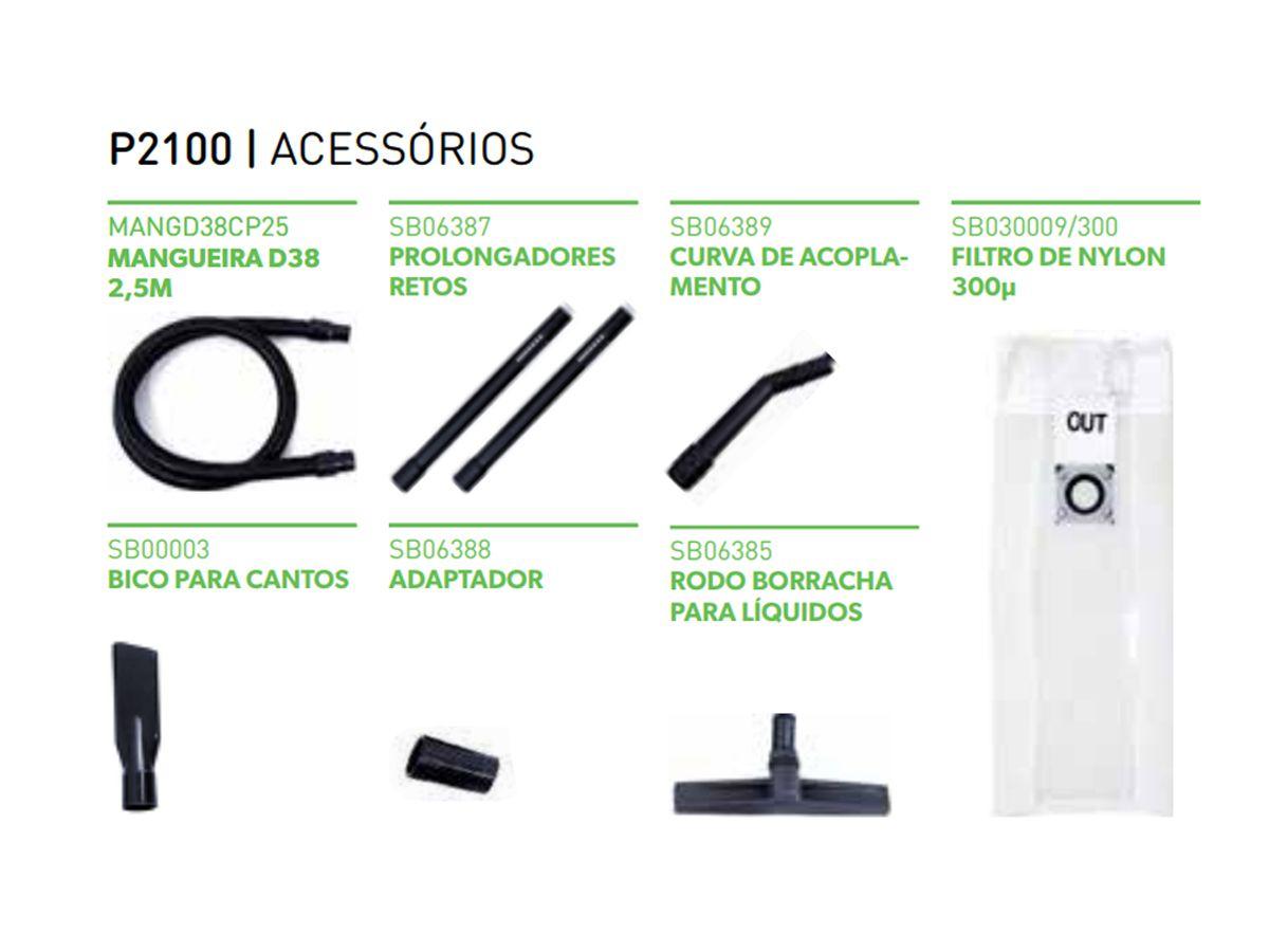 Aspirador Profissional Bombeador P2100 Líquido 100 Litros  2400W- IPCBrasil   - COLAR