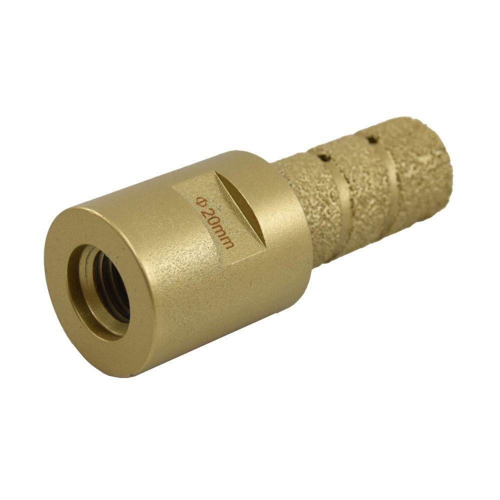 Broca Pantográfica Diamantada Soldada a Vácuo 20mm  - COLAR