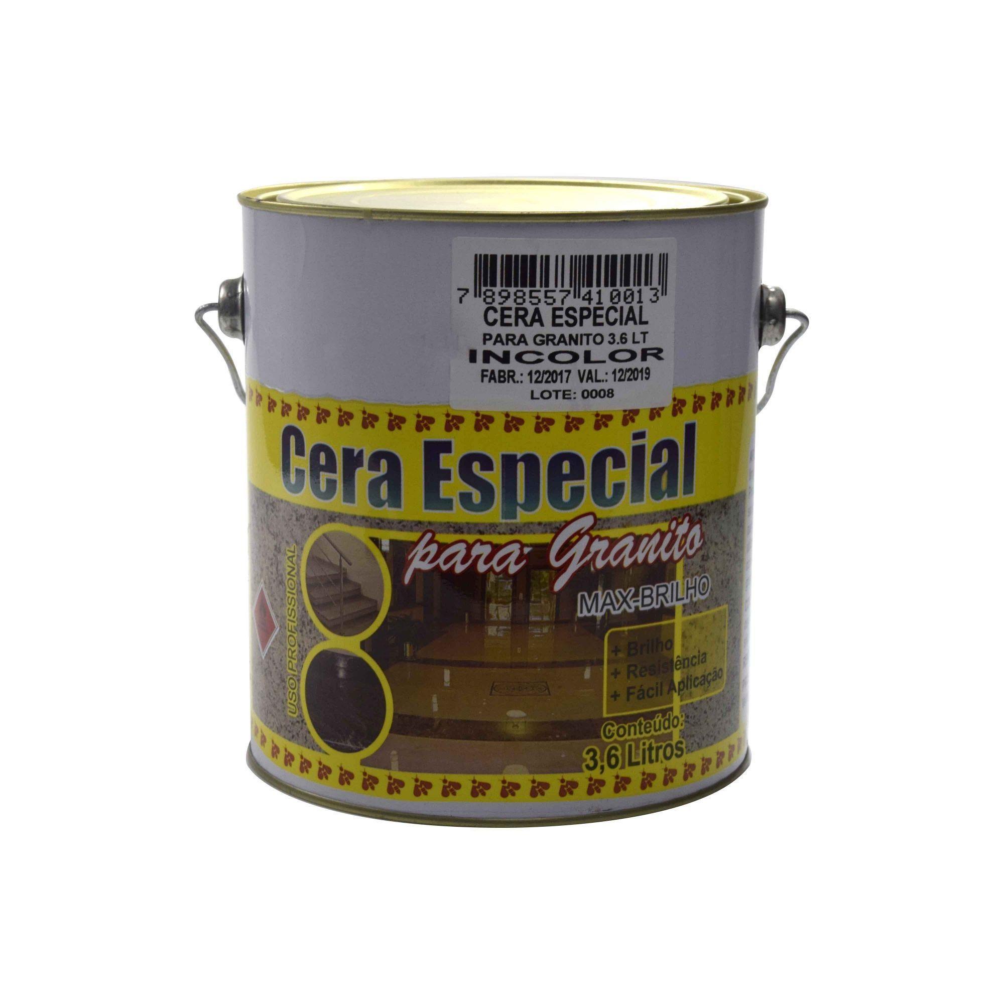 Cera Especial para Granito Incolor 3,6kg - Machado