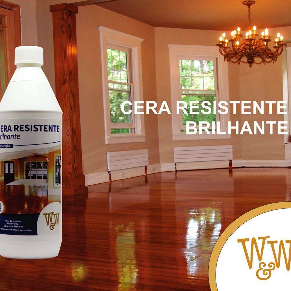 Cera Resistente - Usada Para Restaurar e Tratar Pisos Danificados - Fosca, Acetinada e Brilhante  - COLAR