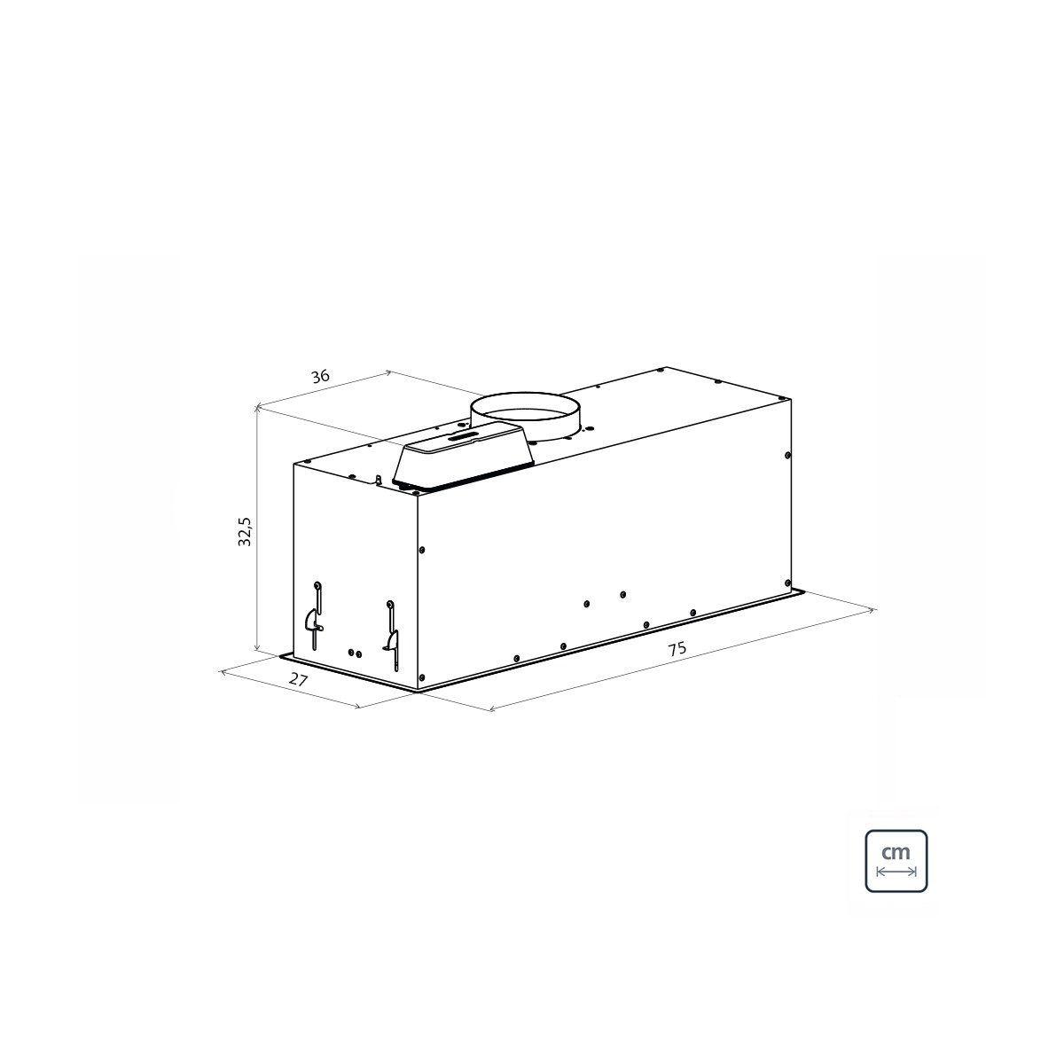 Coifa de Embutir Incasso 75 - Tramontina 95800  - COLAR