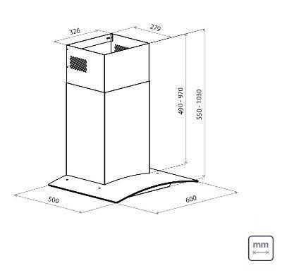 Coifa De Parede New Vetro 60 - Tramontina 95800  - COLAR