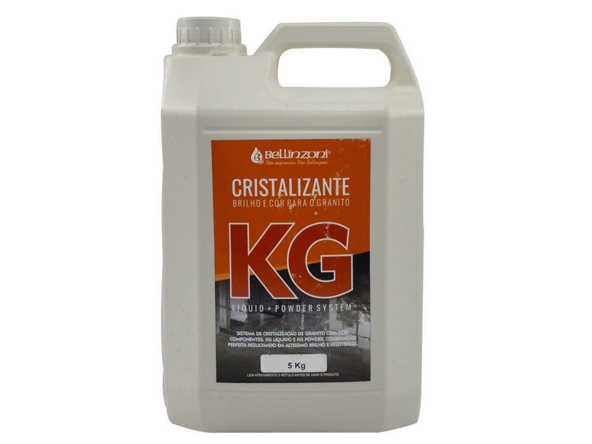 KG - CRISTALIZANTE BELLINZONI (BRILHO E COR PARA O GRANITO) - KG LIQUID 5KG  - COLAR