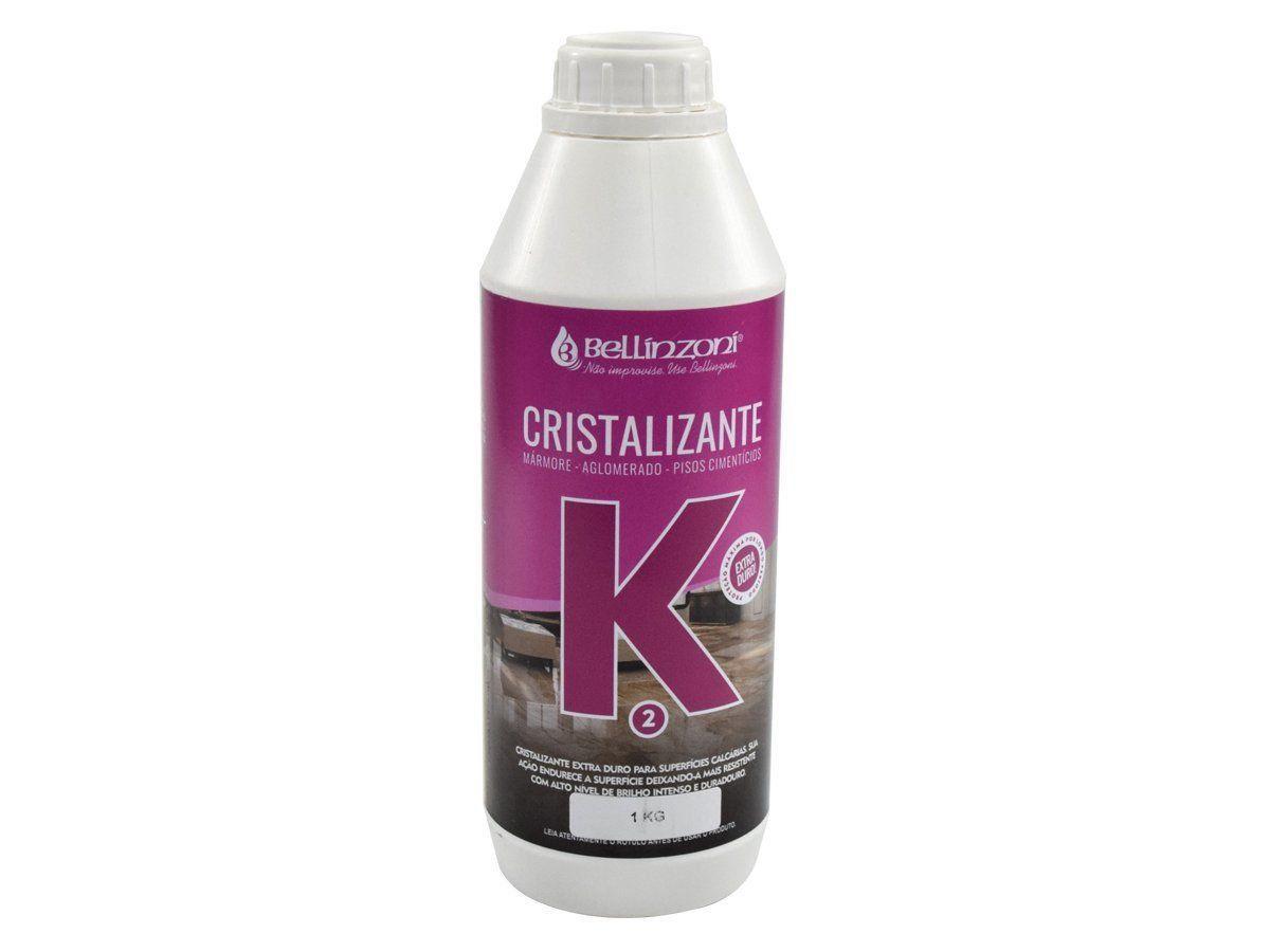 K2 - Cristalizante Bellinzoni Para Mármores, Aglomerados e Pisos Cimentícios - 1Kg  - COLAR