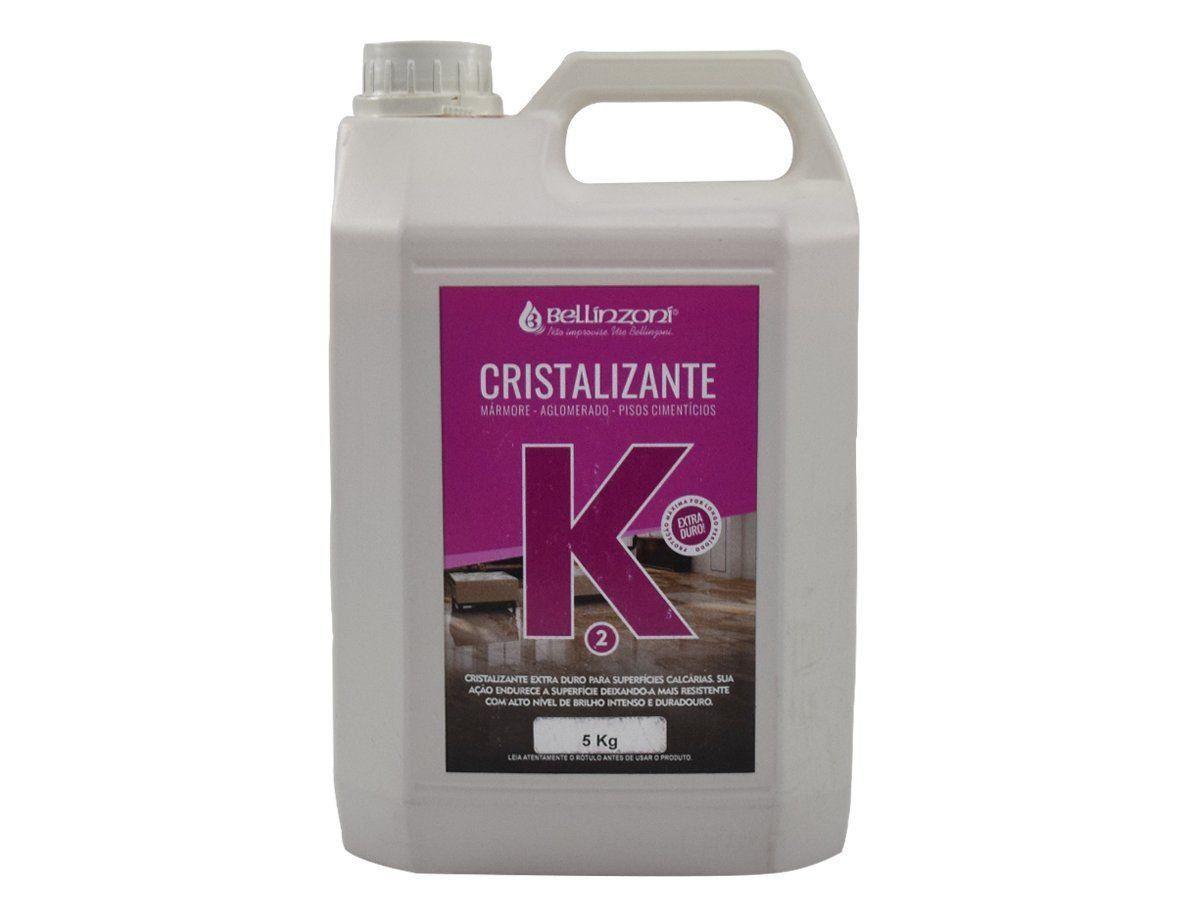 K2 - Cristalizante Bellinzoni Para Mármores, Aglomerados e Pisos Cimentícios - 5Kg  - COLAR