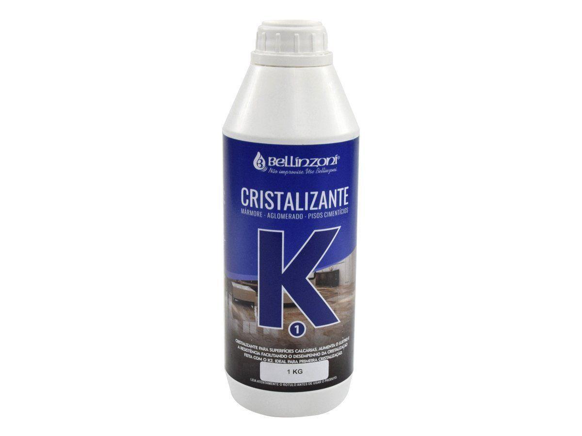 K1 - Cristalizante Bellinzoni Para Mármores, Aglomerados e Pisos Cimentícios - 1 Kg  - COLAR