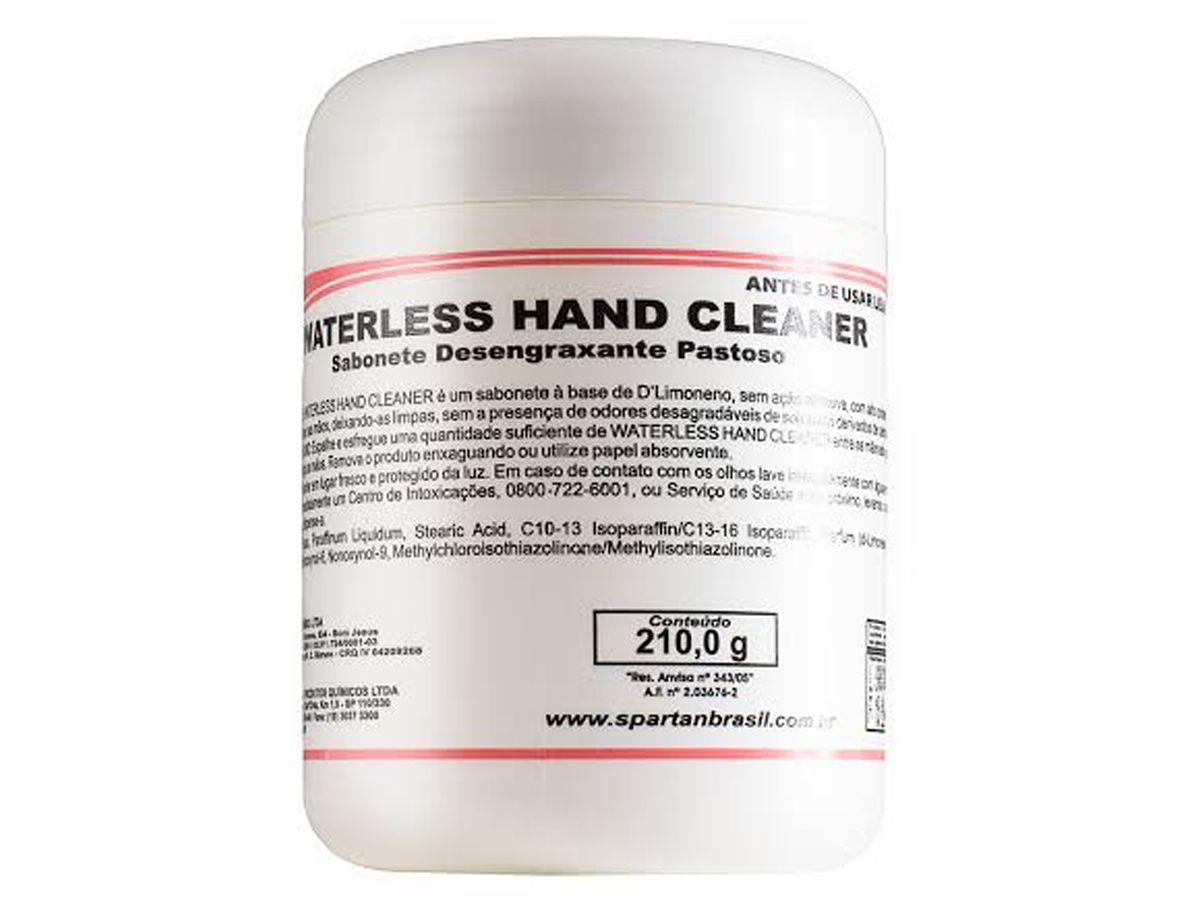 Desengraxante Gel Para Remoção de Graxa Waterless Hand Cleaner Gel 210gr - Spartan