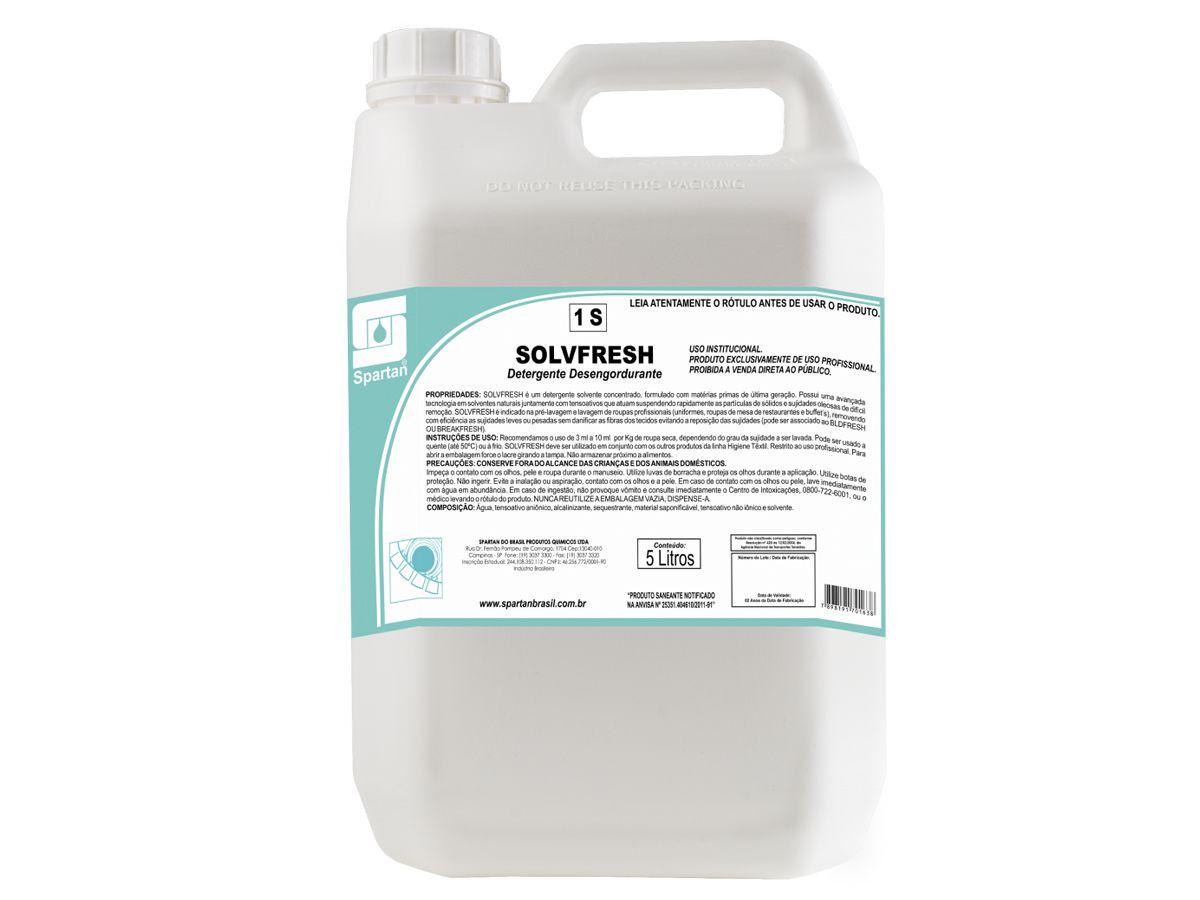 Detergente Desengordurante SOLVFRESH SPARTAN 5 Litros
