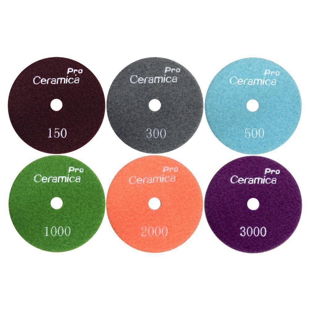 Disco de Polimento Flexível Ceramica Pro 100mm   - COLAR