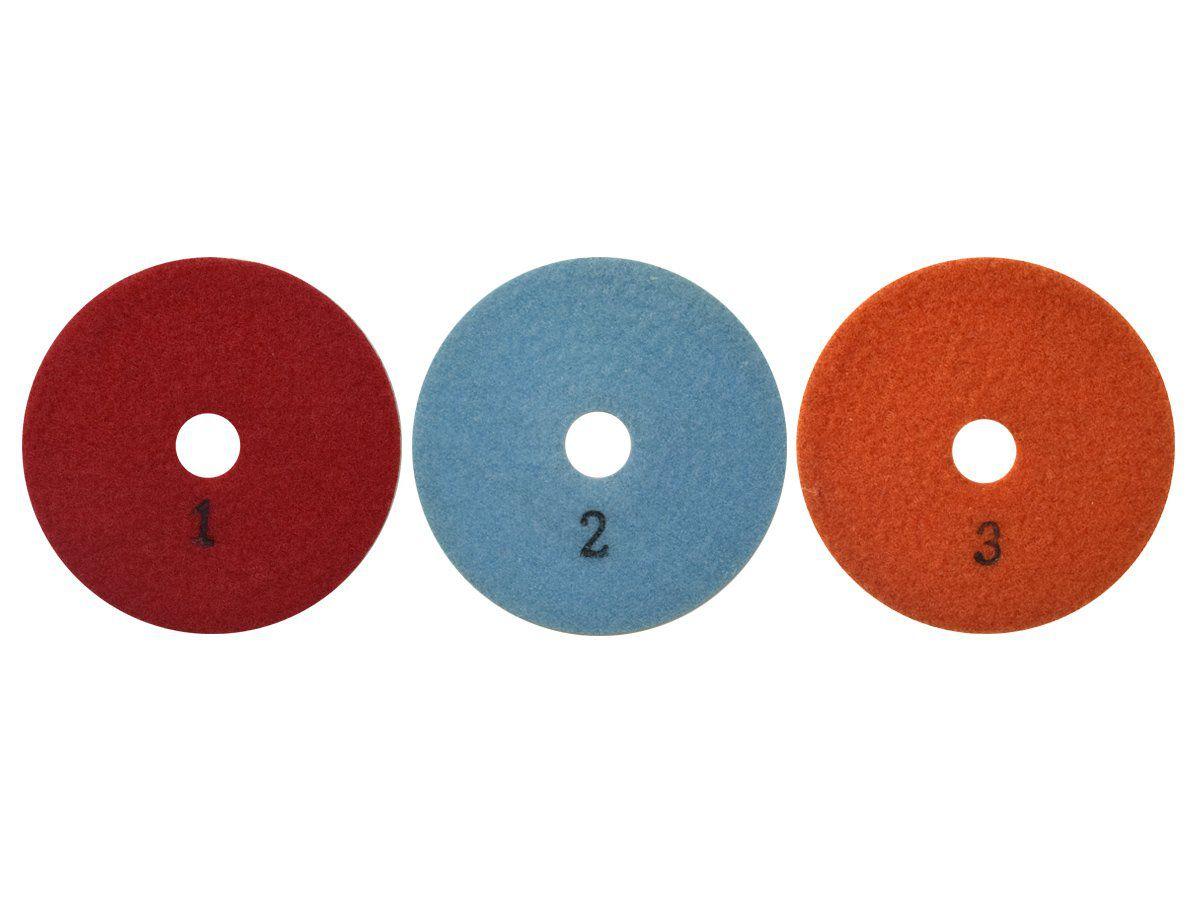 Disco de Polimento Flexível Estágio 1 - 2 - 3  - DM  - COLAR