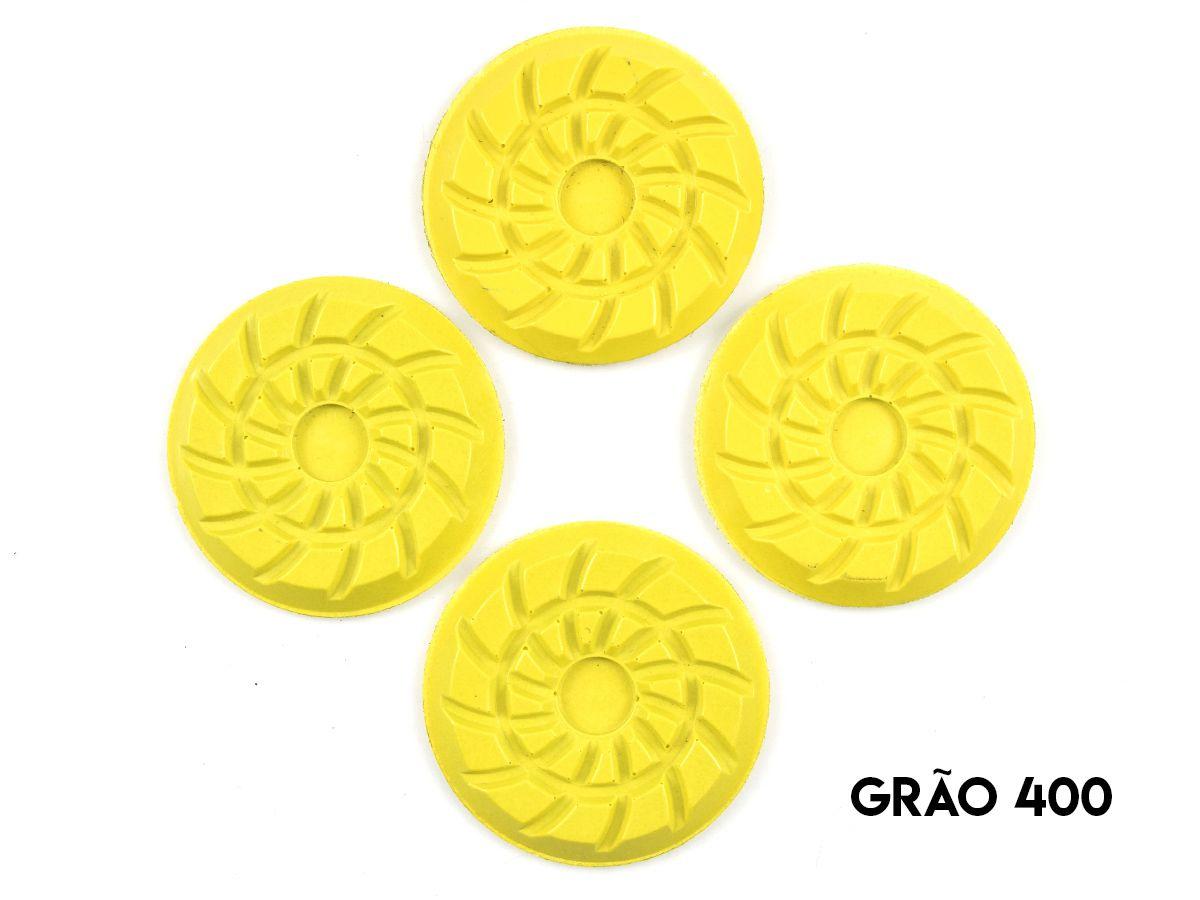 Disco de Polimento Rígido Para Granitos Spiral Large 80mm - Colar  - COLAR