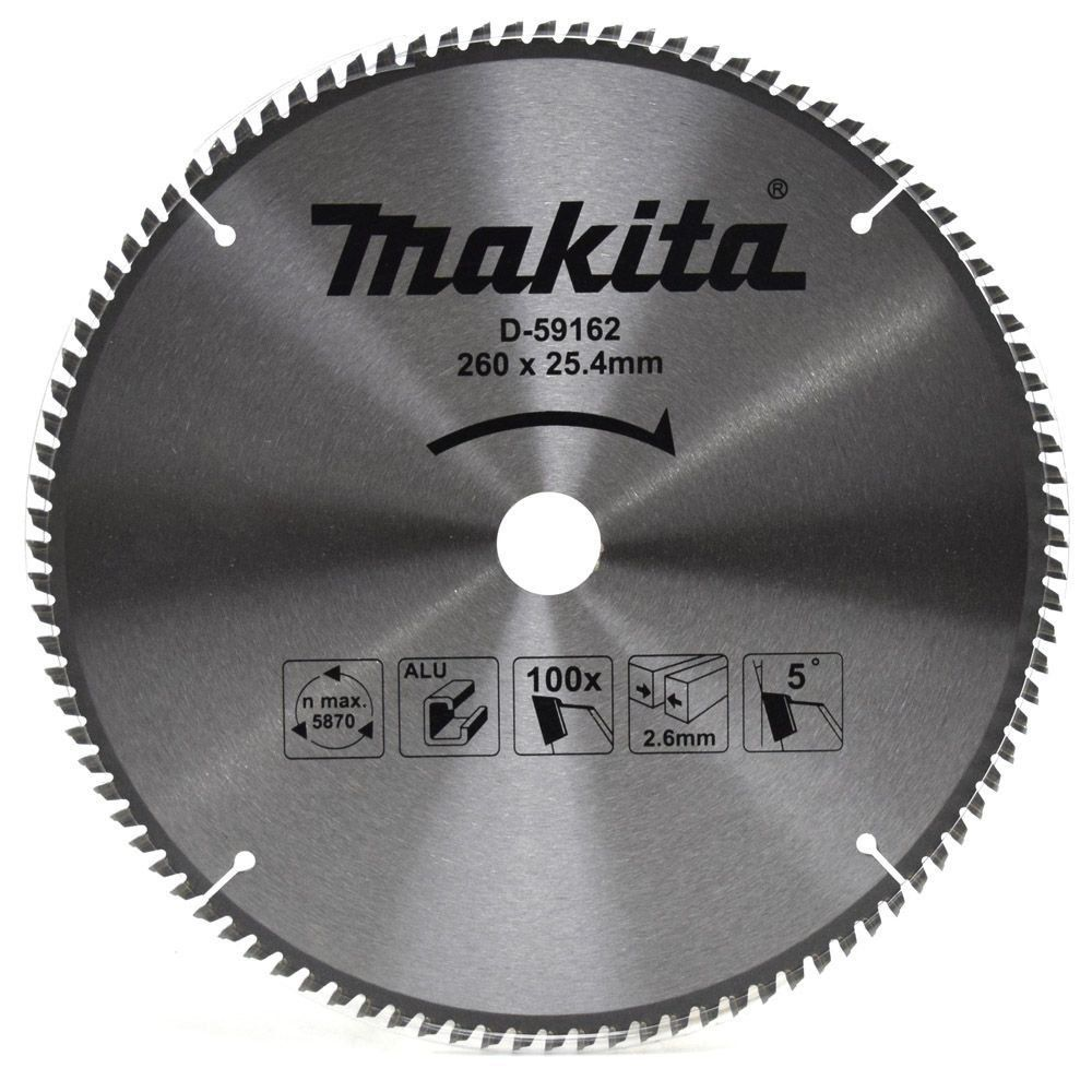 Disco de Serra Para Corte de Alumínio 260mm x 25.4mm - Makita S-59162   - COLAR