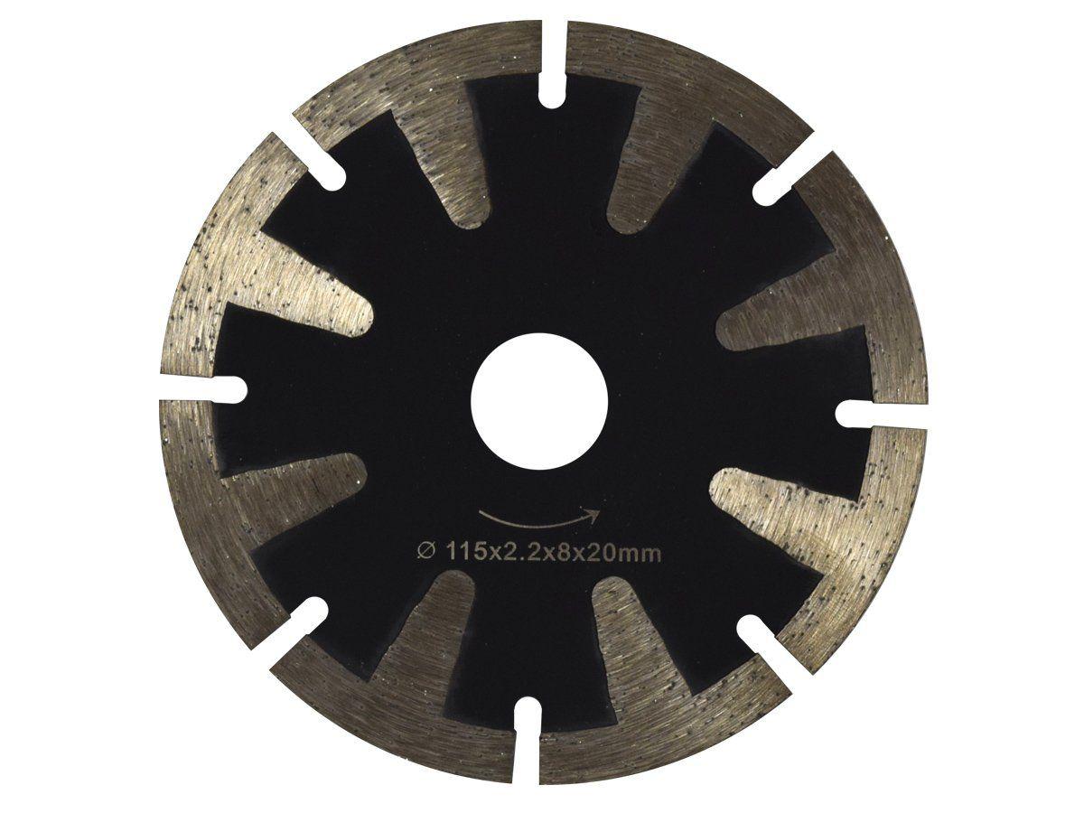 Disco Para Serra Mármore Segmentado Corte Granito, Mármore e Quartzo - 115mm - DM  - COLAR