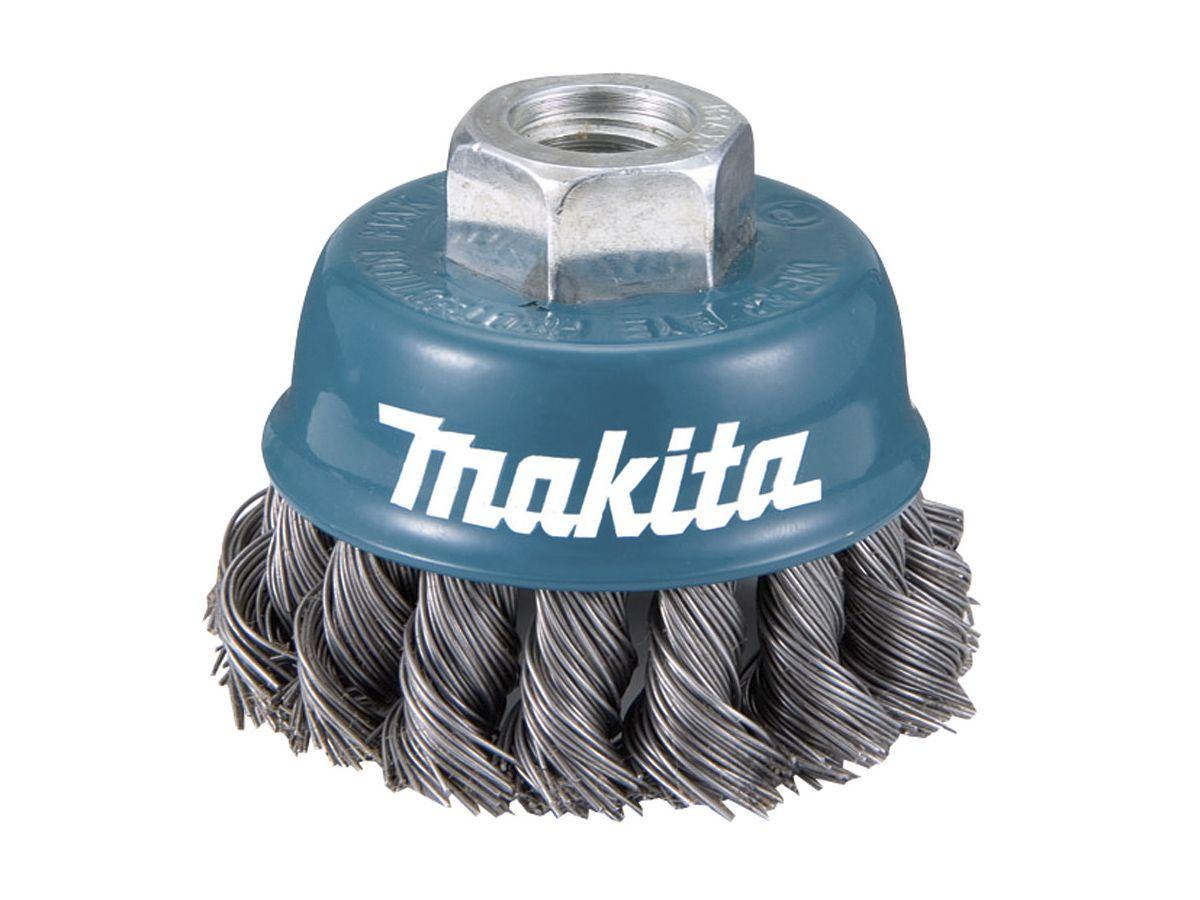 Escova Fios de Aço Trançado 1 Tipo Copo para Esmerilhadeira - Makita - Blister  - COLAR