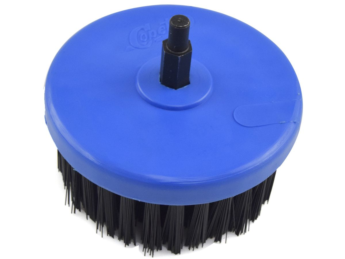 Escova Rotativa Circular Macia Azul 100mm - Colar  - COLAR
