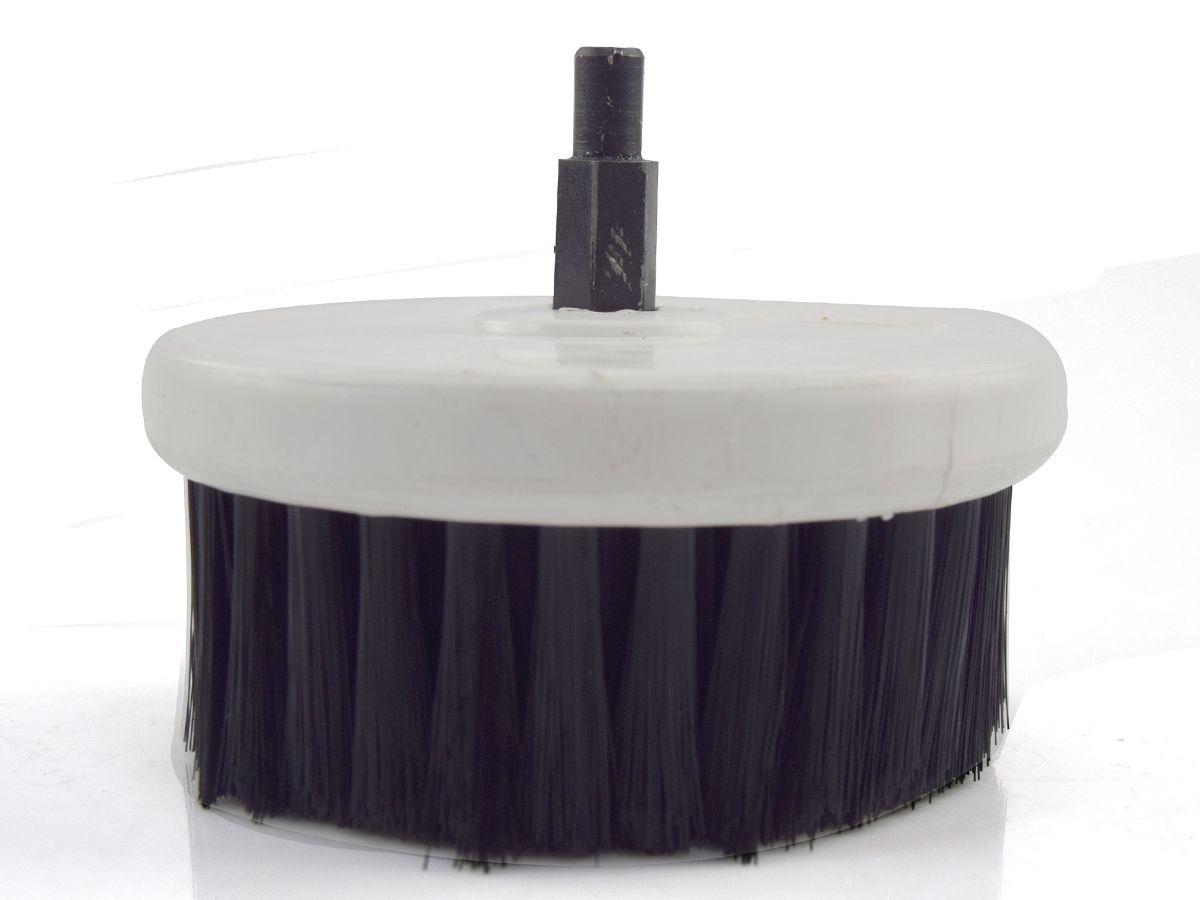 Escova Rotativa Circular Soft Branca 100mm - Macia