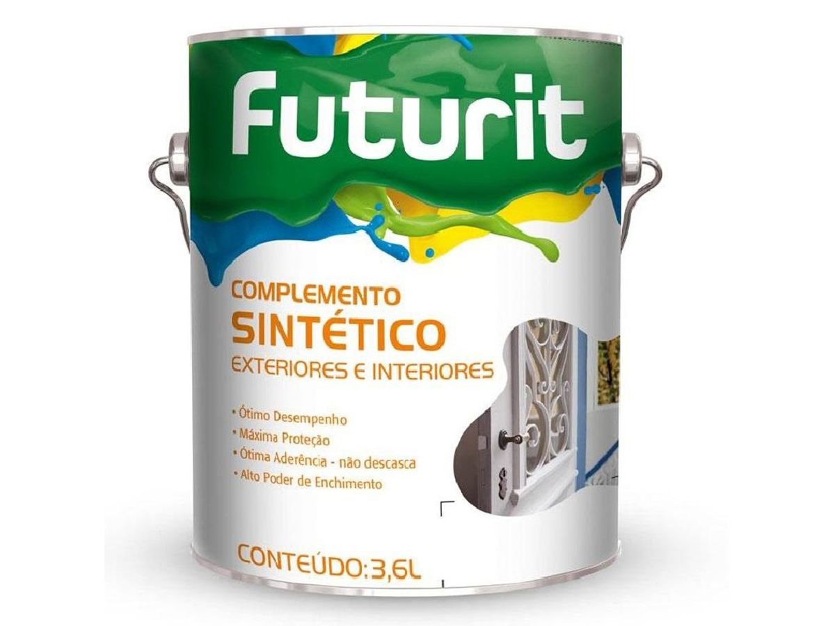 Fundo Branco Para Madeira Futurit - Futura - 3,6 Litros   - COLAR
