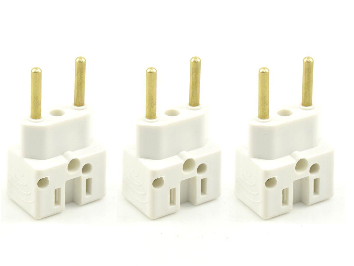 Kit 03 Adaptadores Para Tomada Bob Esponja 10 e 20 Amperes