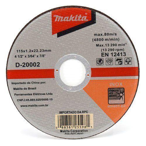 Kit 05 Discos de Corte Para Inox D-20002 Makita  - COLAR